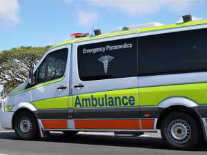 Motorcyclist hospitalised after collision with car