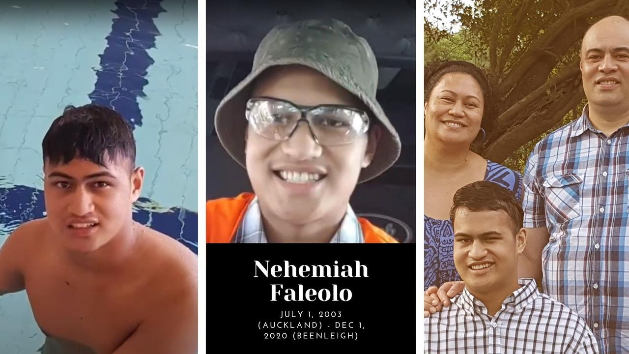 Nehemiah Faleolo and his parents, Ruth, a teacher at Beenleigh State High School, and his father, Thom, also a teacher.