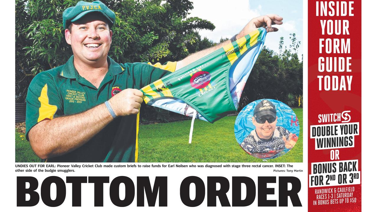 Mackay Daily Mercury back page. April 4 2020.