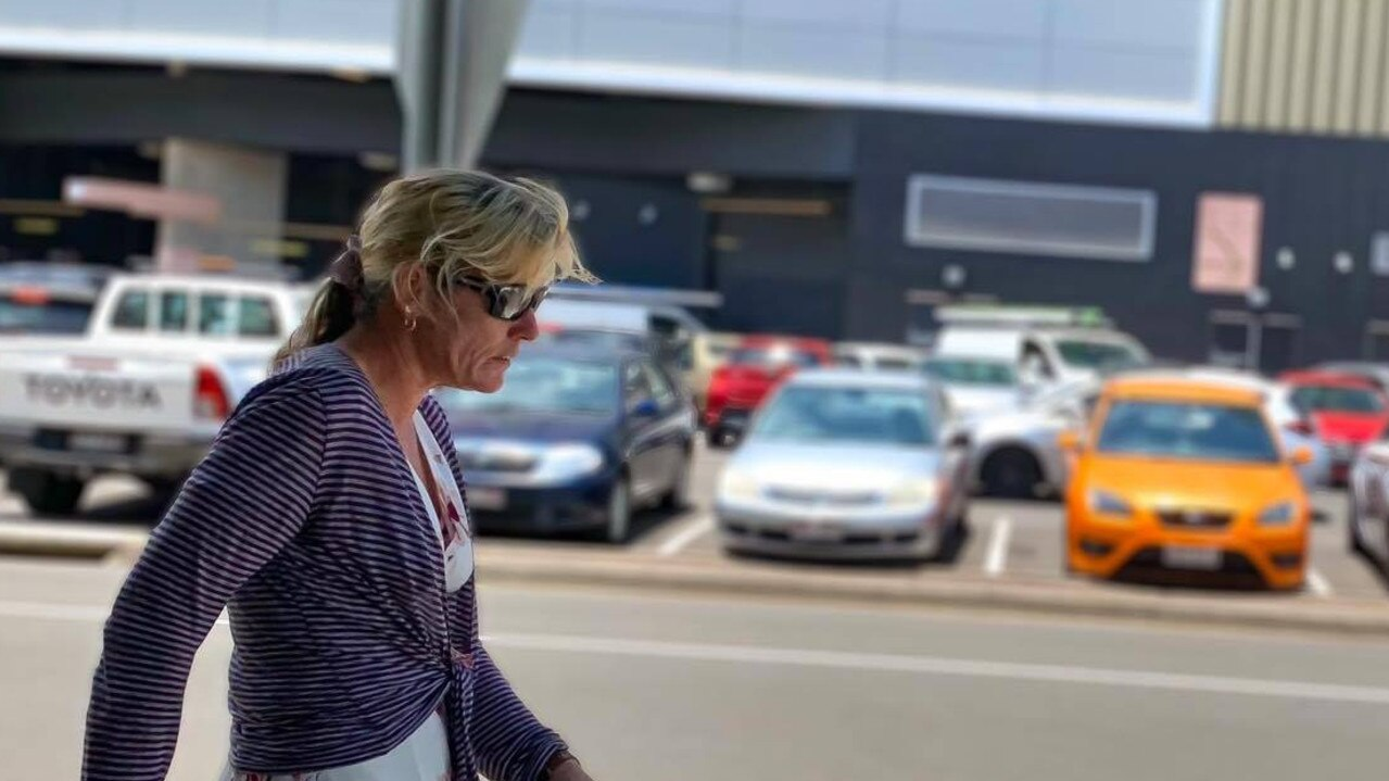 Deborah June Taylor leaves court on a good behaviour bond after biting her neighbour's ear. Picture: Felicity Ripper.