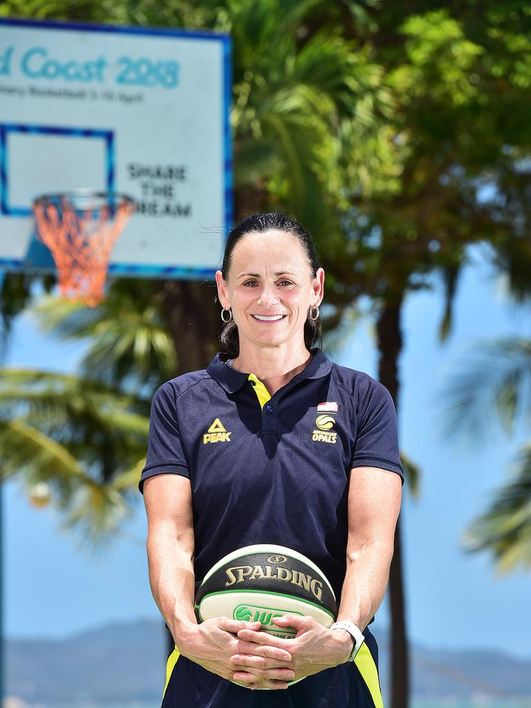 Opals coach Sandy Brondello in Townsville. Picture: Shae Beplate.