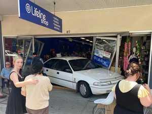 SHOCK: Out of control car smashes into Grafton shop