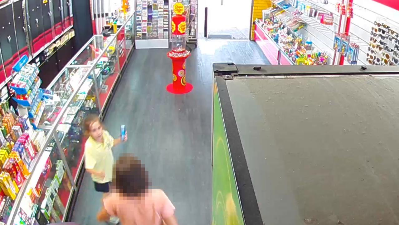 The Year 4 student died four days after she was captured in this CCTV.
