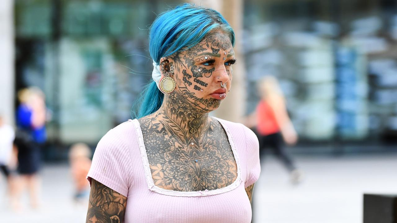 A tattooed Instagram-famous model with a prolific social media following has fronted court on a raft of drug charges, including trafficking.