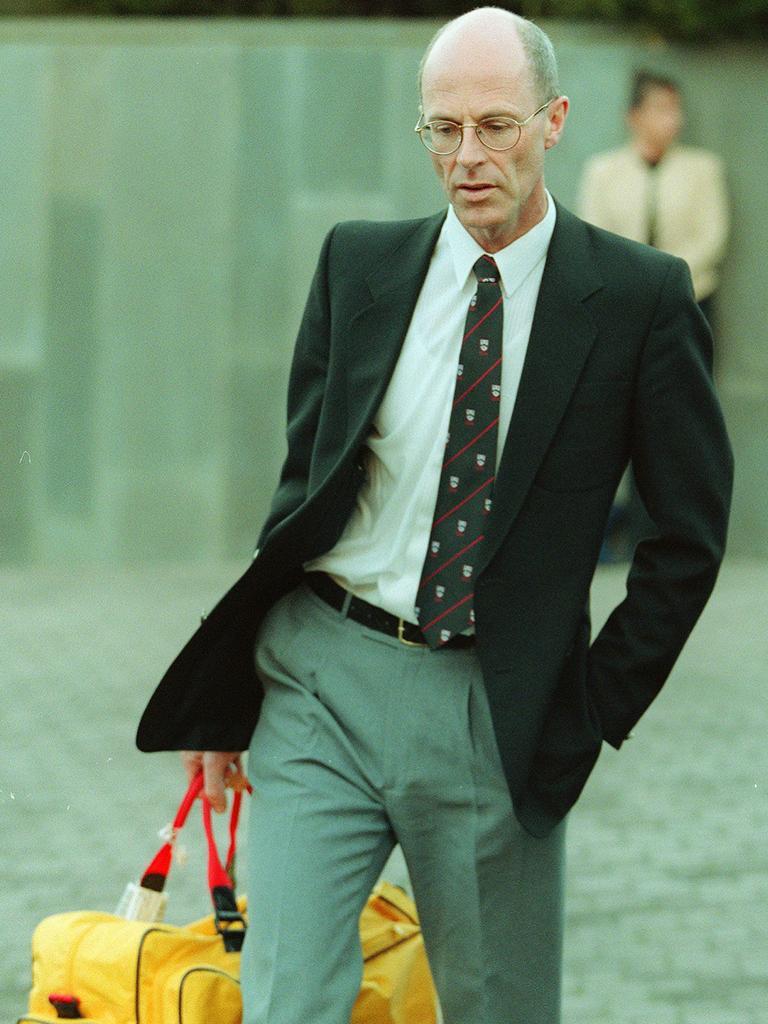 Former Australian cricket umpire Steve Randell leaving Tasmania Supreme Court.