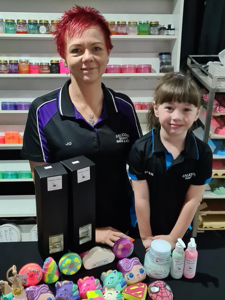 LOCALLY MADE: Jo Goodwin and daughter Zahlee, their six-year-old sales superstar.