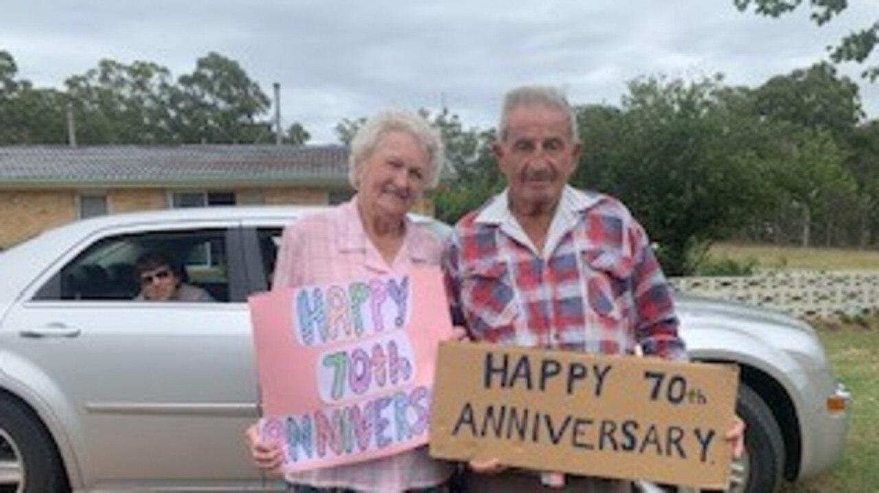 Marje and Ken Burley's 70th wedding anniversary