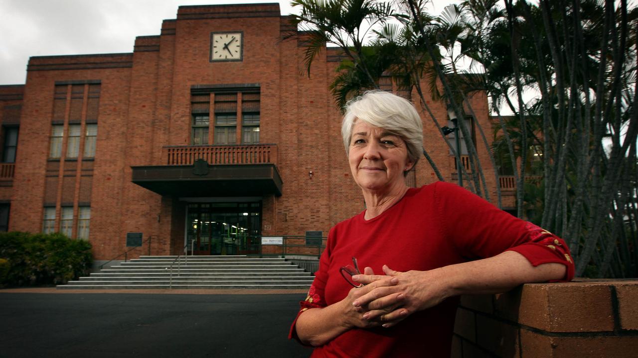 Former Rockhampton Regional Mayor Margaret Strelow outside the Council Chambers in 2012.