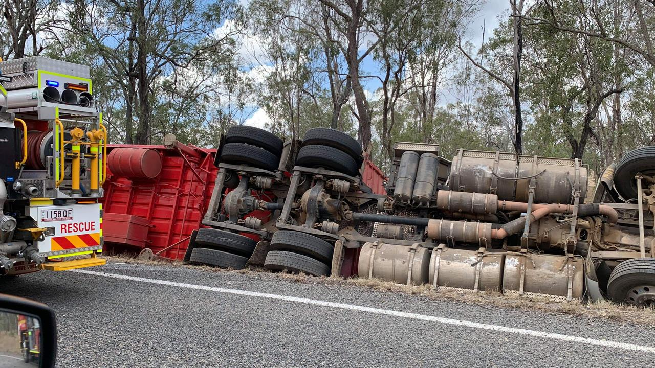 A cattle truck has rolled over on the Capricorn Hwy at Emerald. Pic: file photo