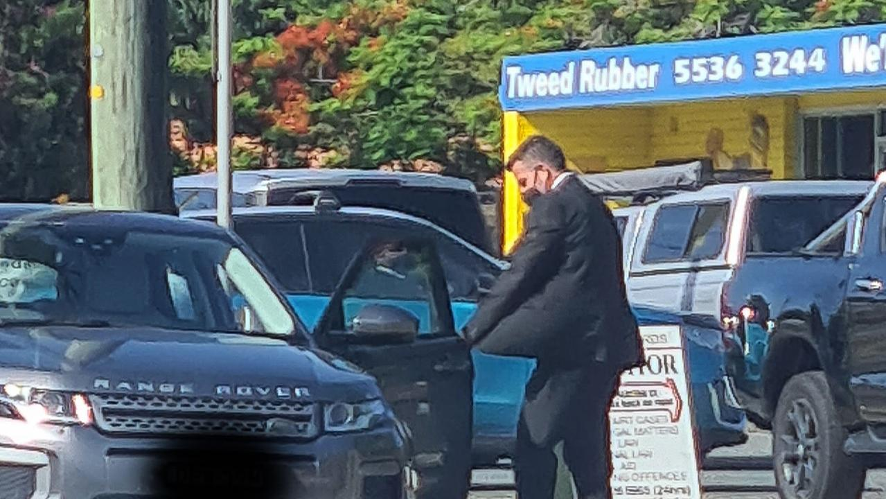 Stuart James Amos leaving Tweed Heads Court House on December 2, 2020.
