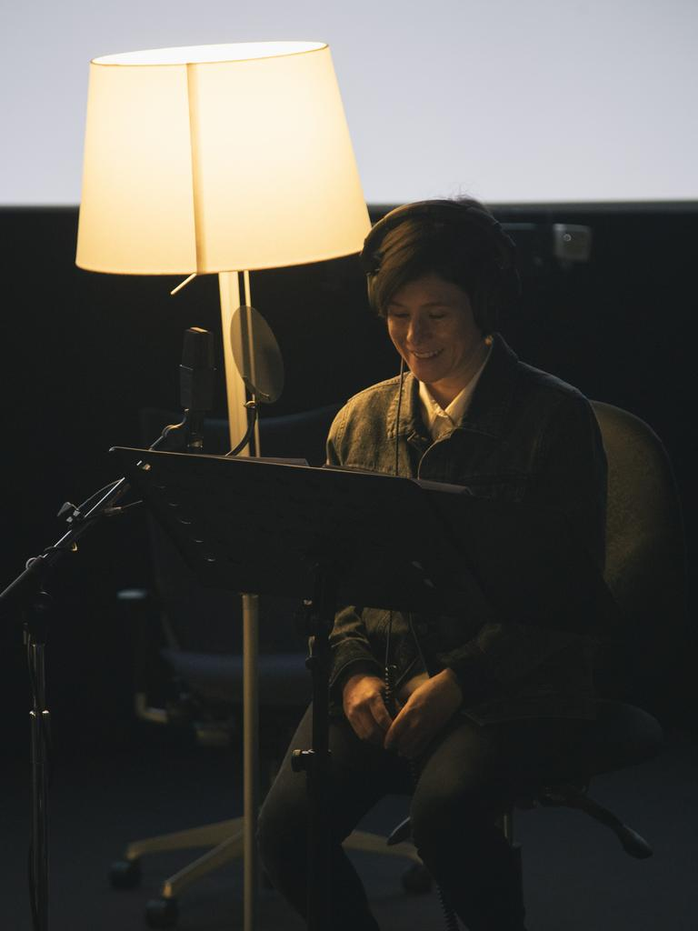 Actor Yael Stone during the recording of Winding Road