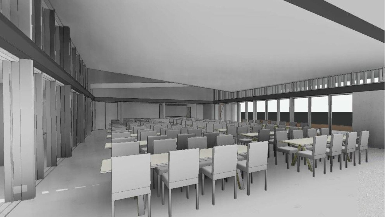 A previous render for the function centre at the Flagstaff Hill development.