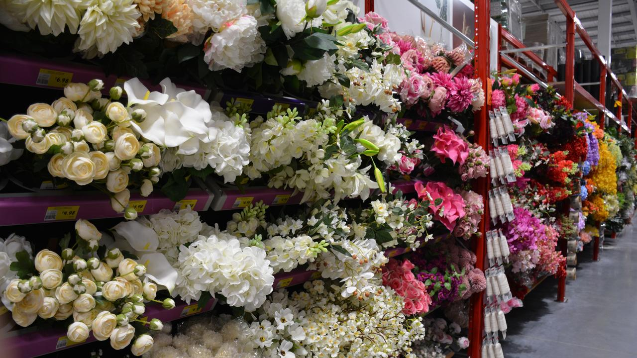 The artificial flowers range will no doubt be a hit for weddings and other events. Picture: NCA NewsWire/Rebecca Le May