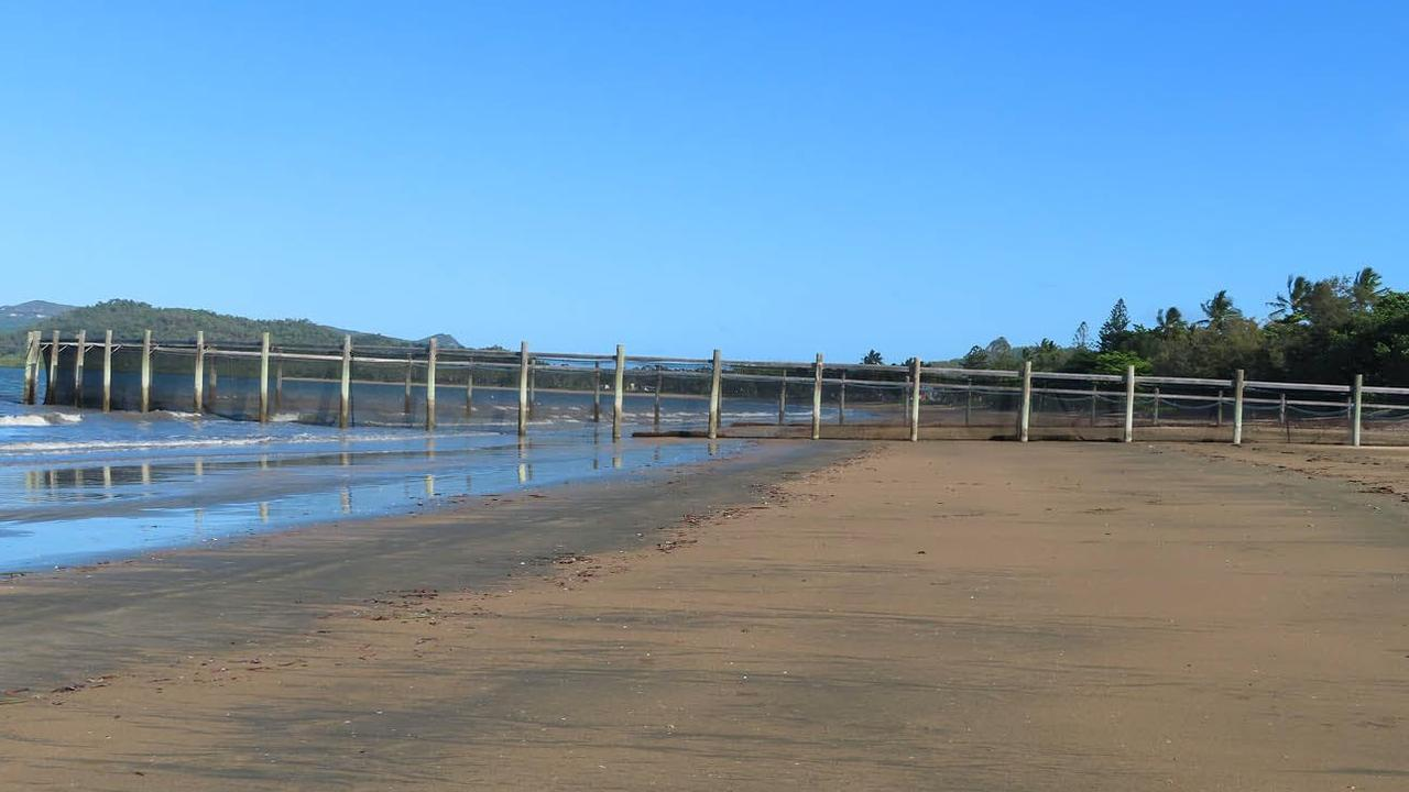 A view of the swimming enclosure at Seaforth Beach. Picture: Mackay Regional Council