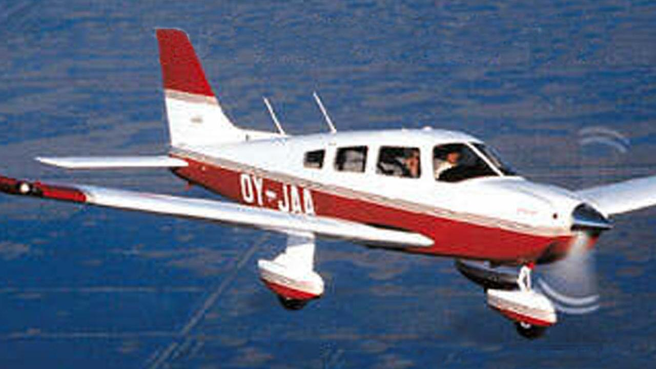 A Piper Cherokee plane, similar to the one that made the emergency landing.