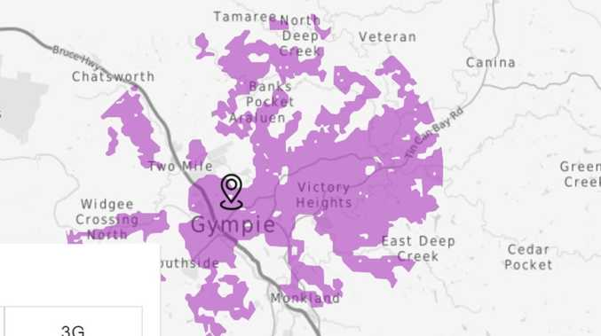 Where the 5G towers are in Gympie, and coverage