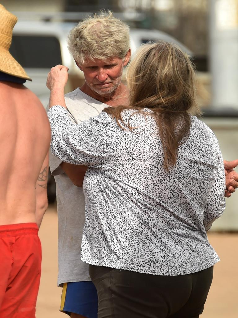 Boaties rescued after their boat capsized off Cape Cleveland. Ray Peet with partner. Picture: Evan Morgan