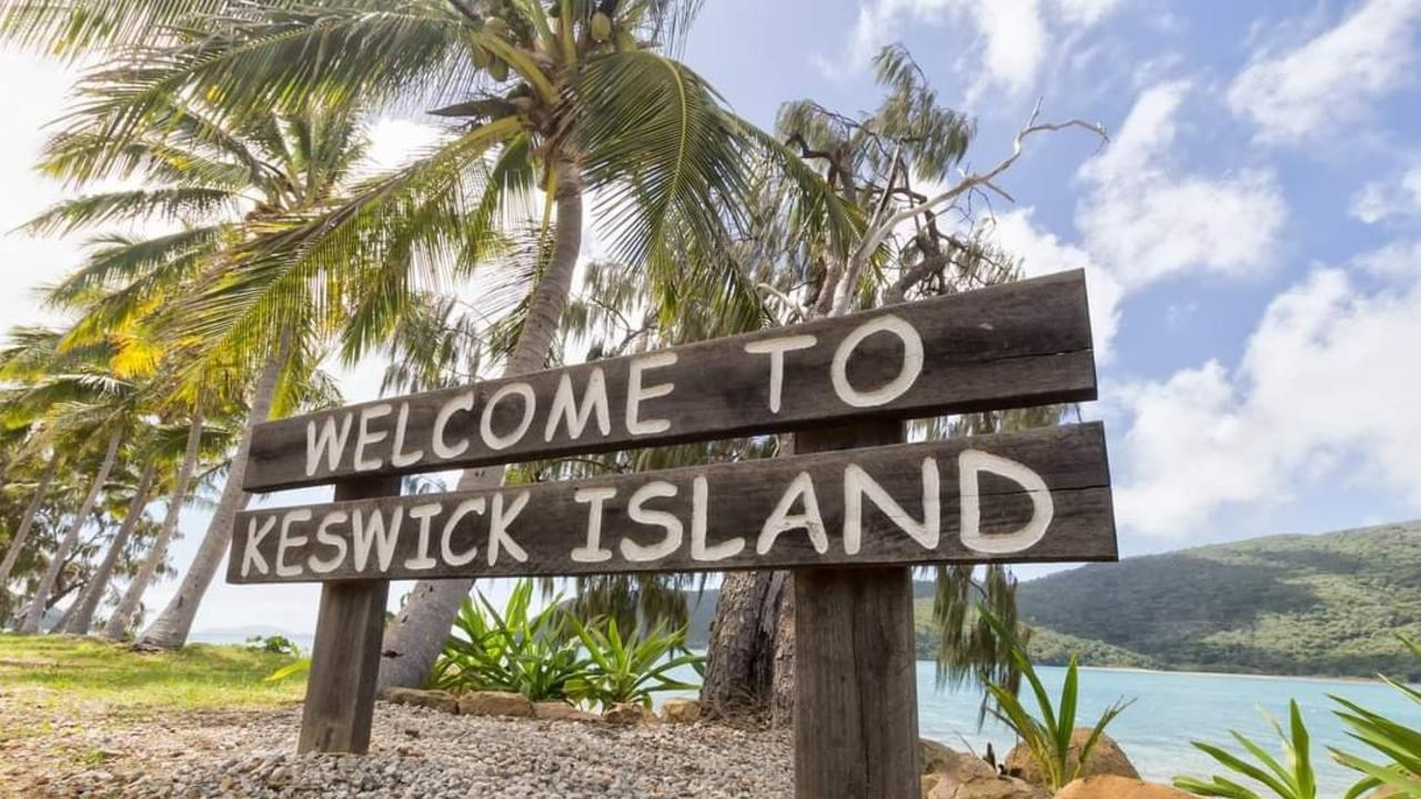 A welcome sign on Keswick Island. Picture: Belinda McMahon/Stormybeachbelle