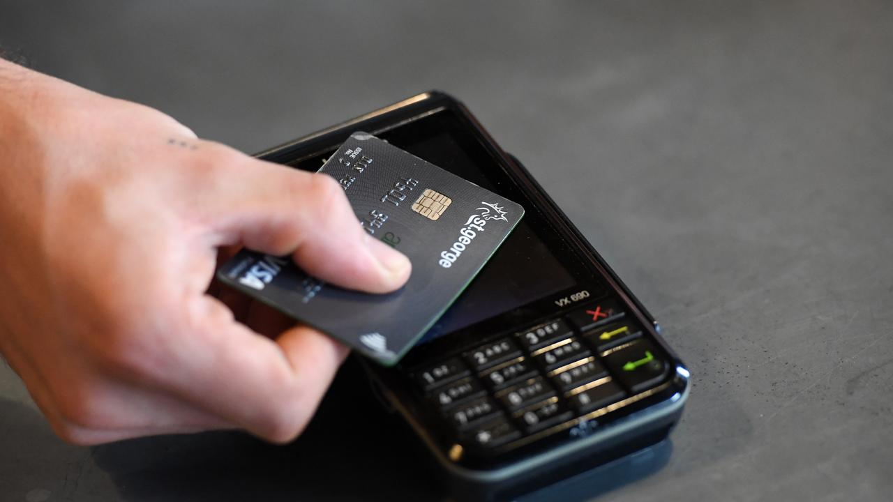 Finance experts warn to not rely on using credit cards to pay for Christmas presents. Picture: Dan Peled/AAP