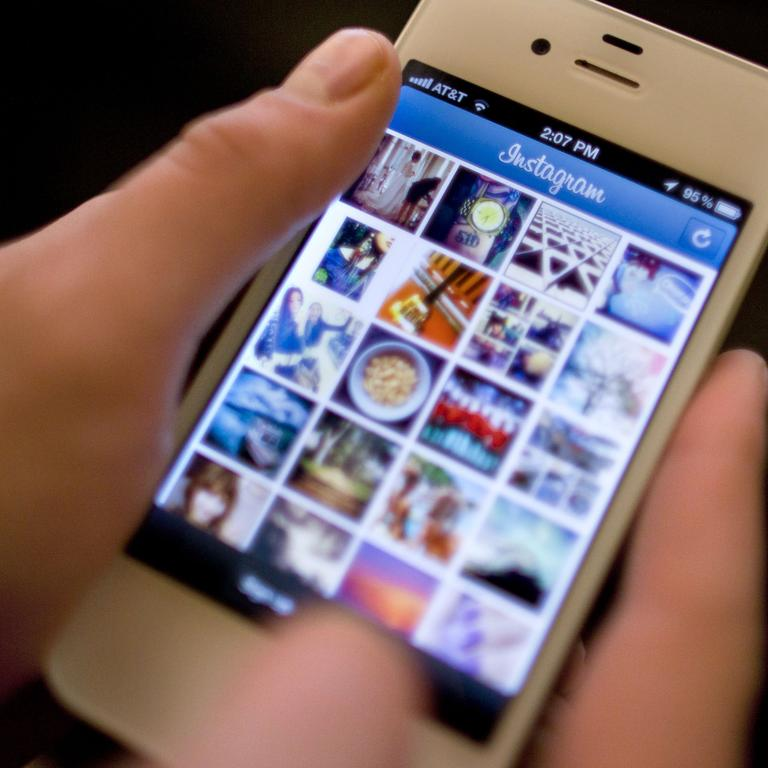How Instagram looked when Facebook bought it in 2012. Picture: AP