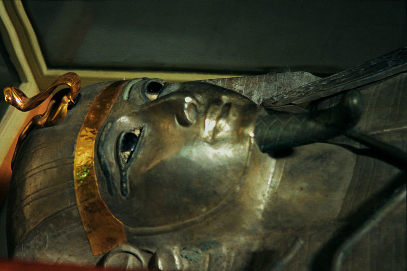 Sarcophagus of Pharaoh Psusennes. Source: WikiMedia Commons