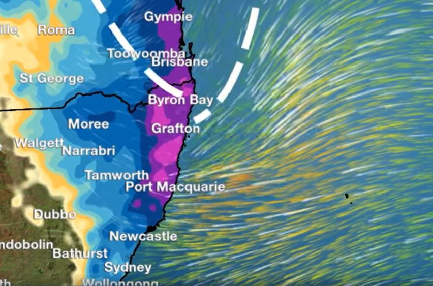 BoM is forecasting that a deepening low will impact the Northern Rivers over the next four days.