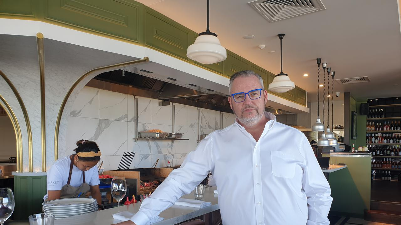 Chef and businessman Tony Kelly inside the newly opened Market Bistro in the Maroochydore CBD's Foundation Place. Picture: Matty Holdsworth
