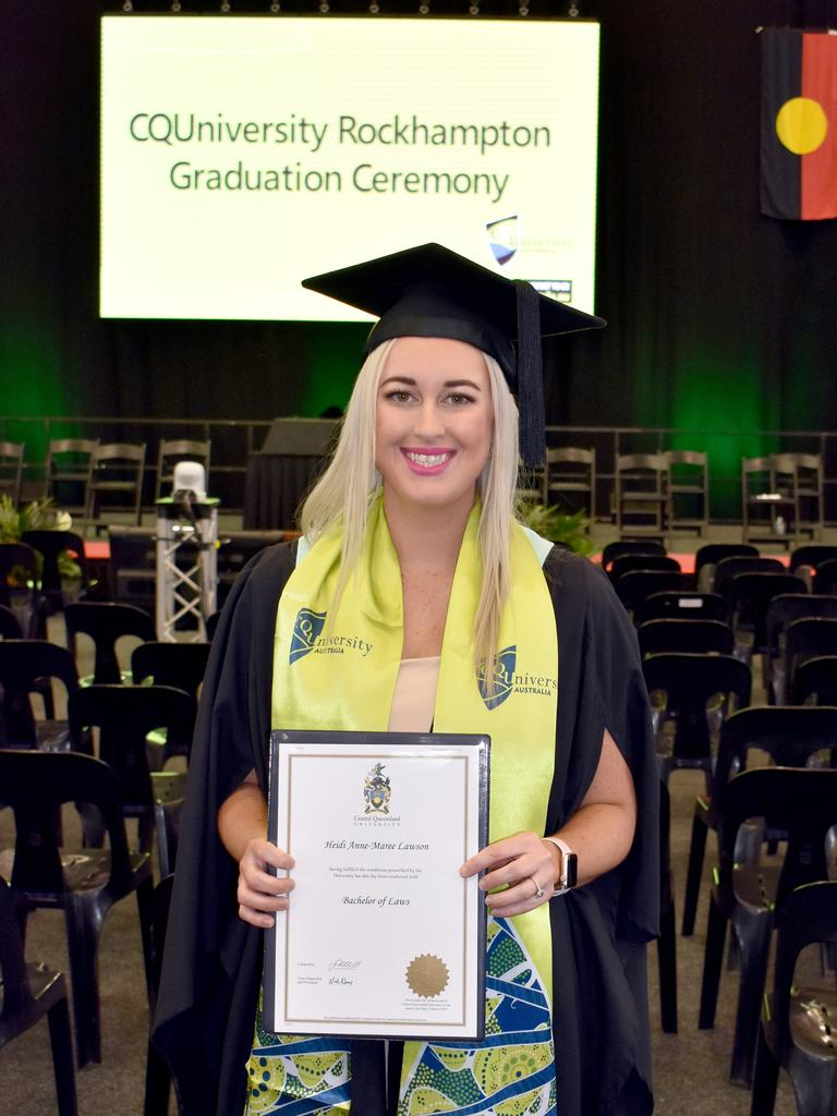 Heidi Lawson graduated with a Bachelor of Laws from CQUniversity Rockhampton in December 2020