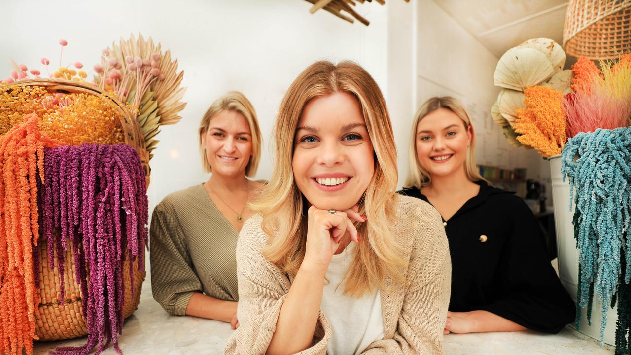 Regan Botica along with Sisters Anna Hamilton and Kate Samson, who already own Cedar & Stone at Burleigh Heads, are taking the plunge and opening a second business – Nectar Juice House – despite the world COVID-19 pandemic. Picture Scott Powick