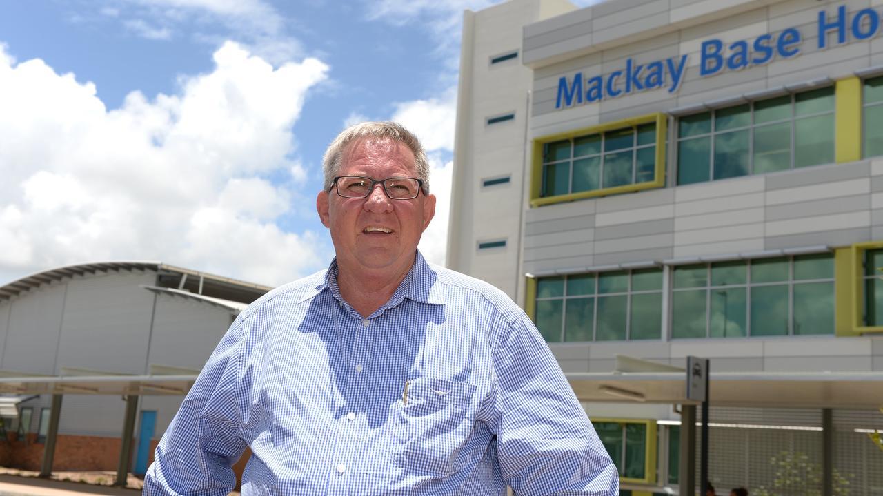 Tim Mulherin outside the Mackay Base Hospital.