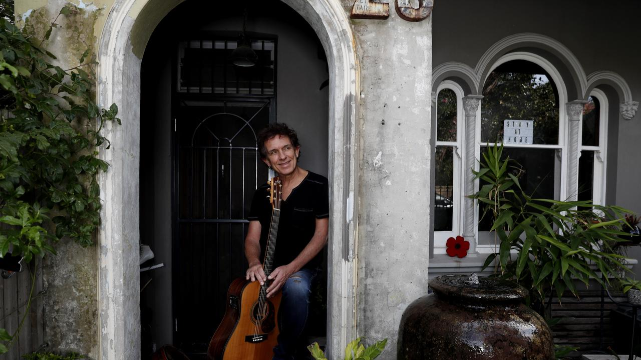 Singer-songwriter Ian Moss at home in Sydney on Thursday, 7 May, 2020.Picture: Nikki Short