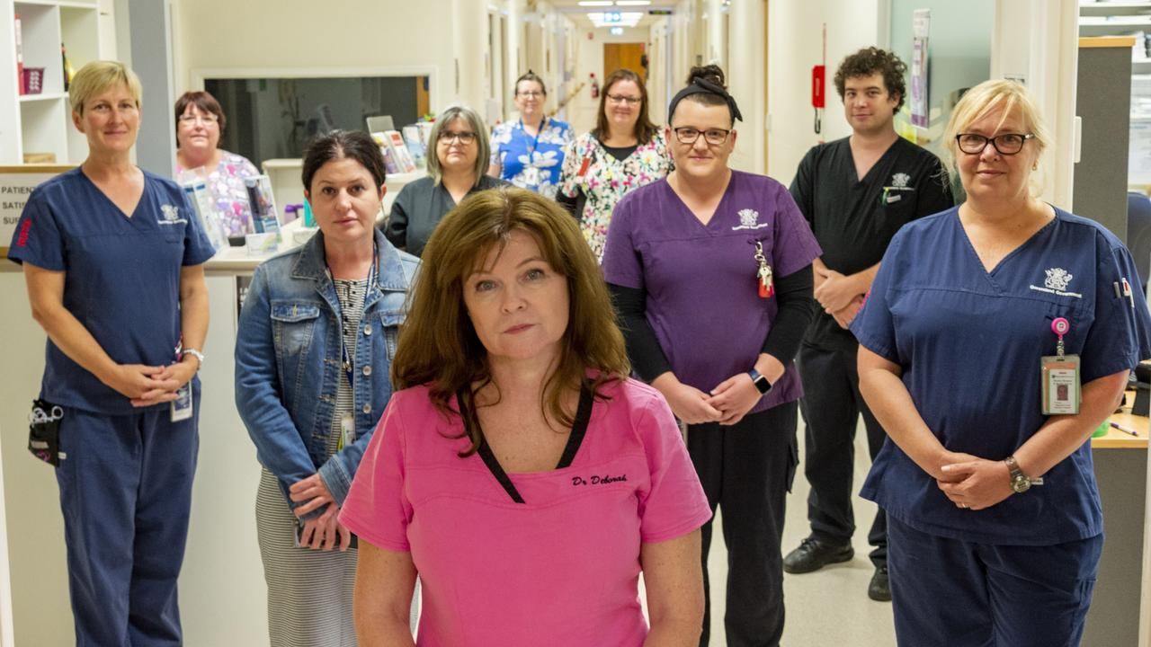 Dr Deborah Simmons and the nursing team at Moranbah Hospital who treated the Grosvenor mine blast victims. Picture: Daryl Wright