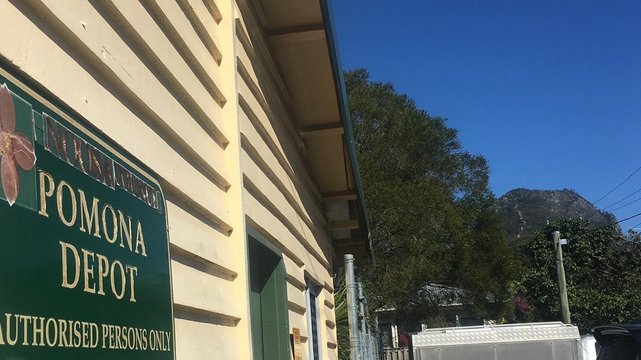 The Pomona Noosa Council depot.
