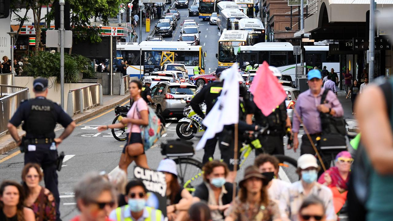 Several activists who stopped traffic in Brisbane's CBD in the latest Extinction Rebellion protest have appeared in court.