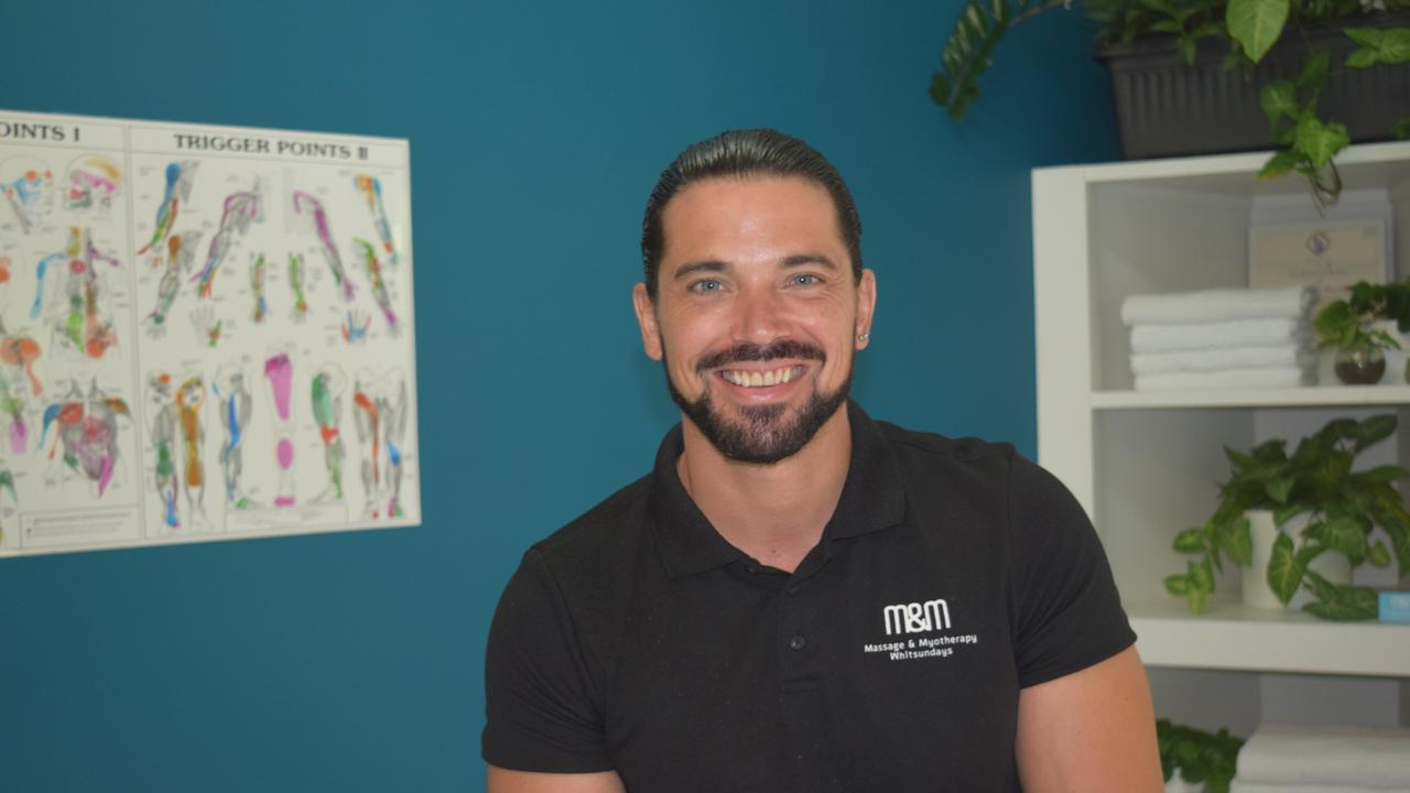 Beau McCleish has set up new clinic Massage and Myotherapy Whitsundays in Cannonvale. Photo: Elyse Wurm