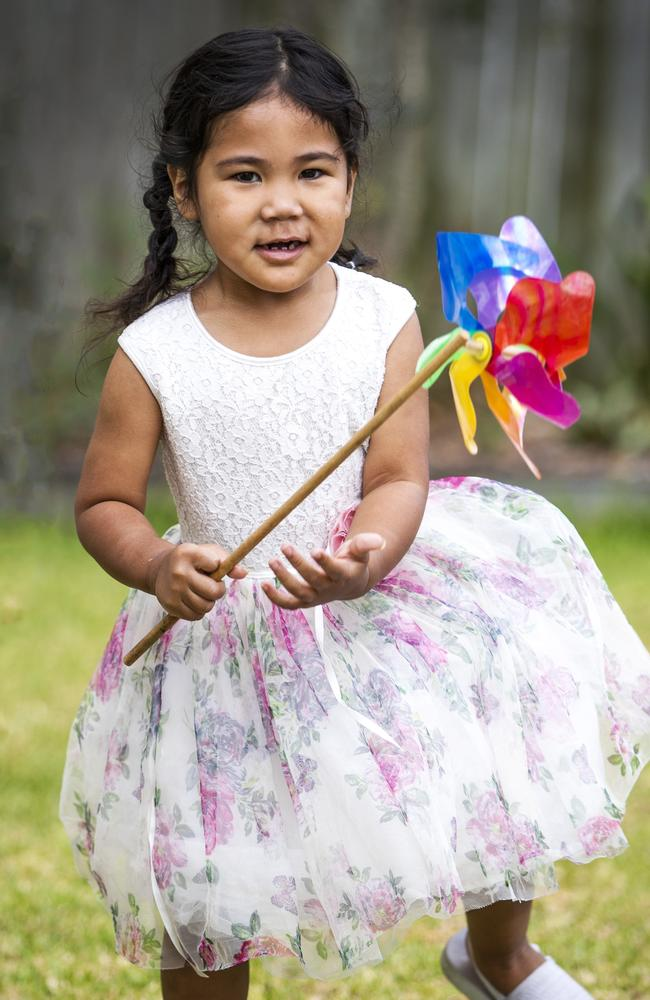 Three year old Faith Leiataua almost drowned at the Newmarket Pool over the weekend. Picture: Nigel Hallett