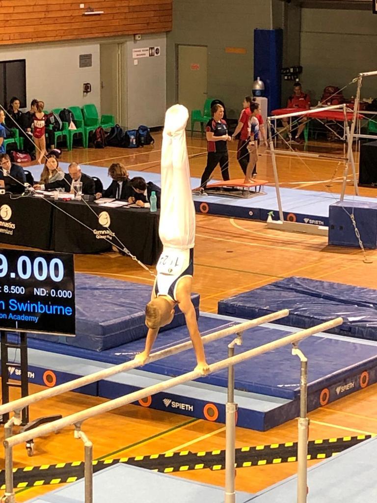 Maroochy Beach gymnast Lewis Dibb
