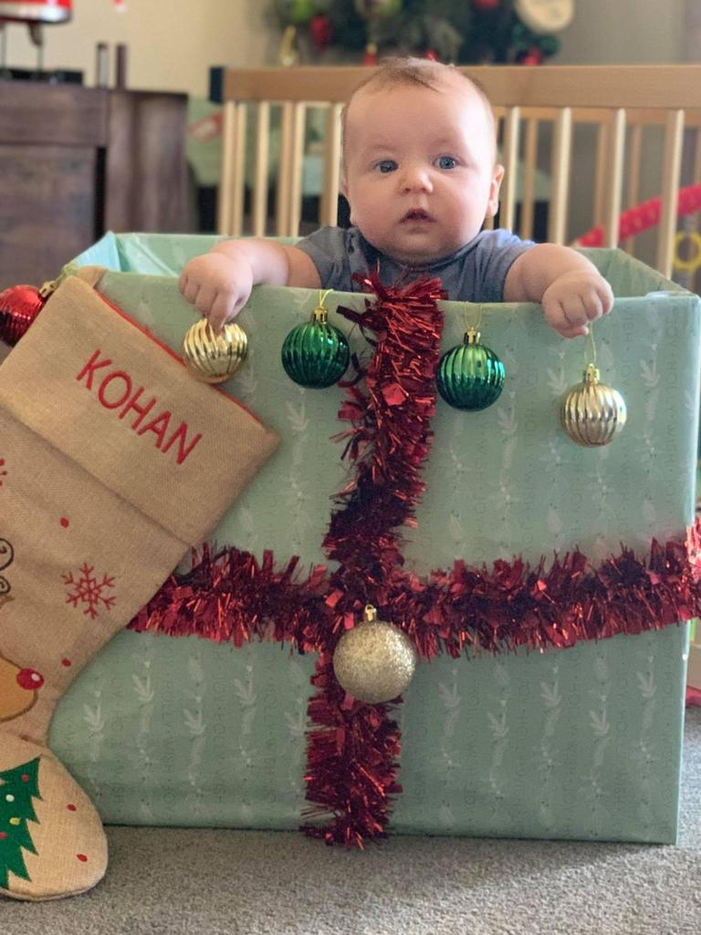 Every day mum Julie Cooper sends her family videos and pics of her son Kohan Knox to her NZ family.