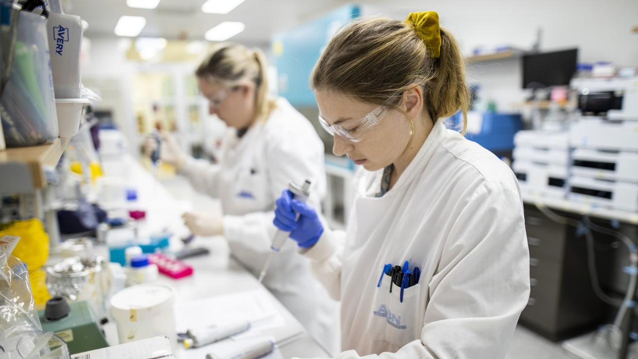 Researchers working on UQ's now-cancelled vaccine.