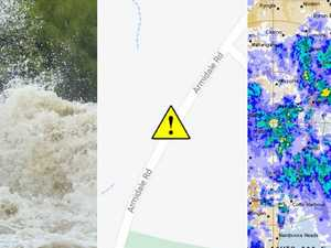 River level, rainfall and road closures for the Clarence