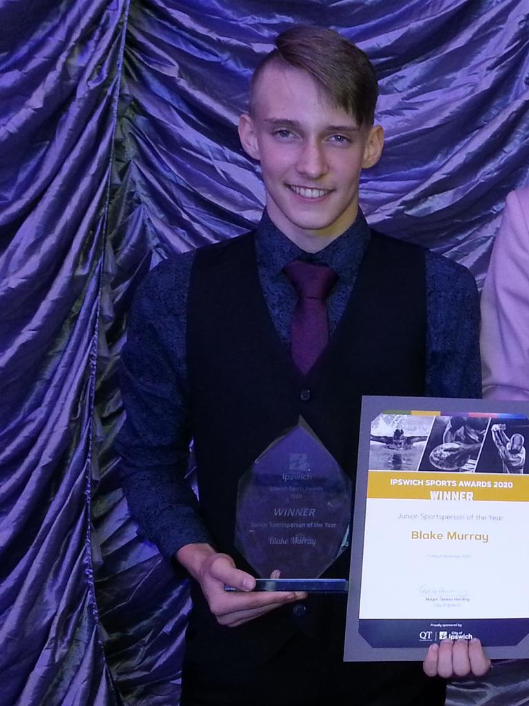 2020 Junior Sportsperson of the Year Blake Murray.