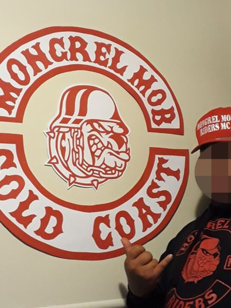 The Mongrel Mob has been rapidly growing on the Gold Coast. Photo: Supplied