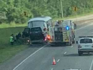 Motorhome catches fire on Bruce Hwy