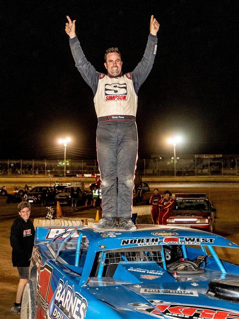 Mat Pascoe wins at Latrobe in Tasmania.