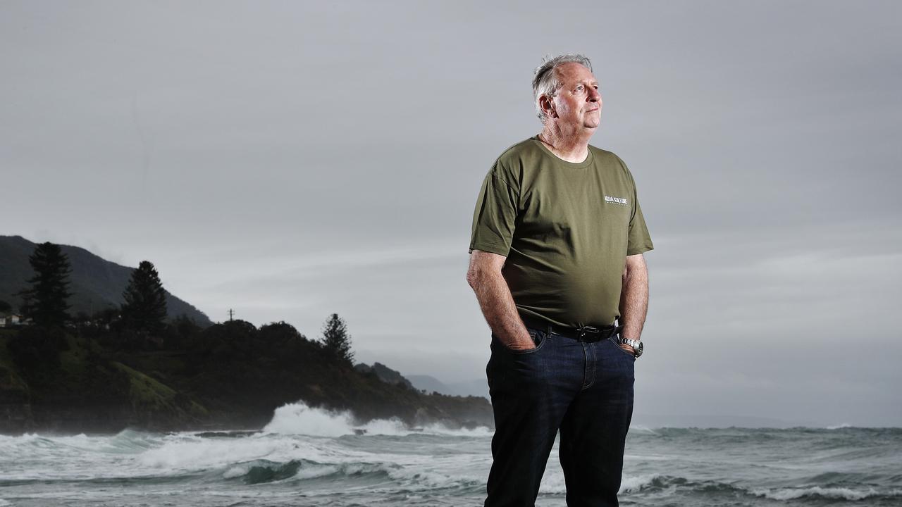 Bob Myatt, shark researcher, pictured at Coledale Beach. Picture: Sam Ruttyn