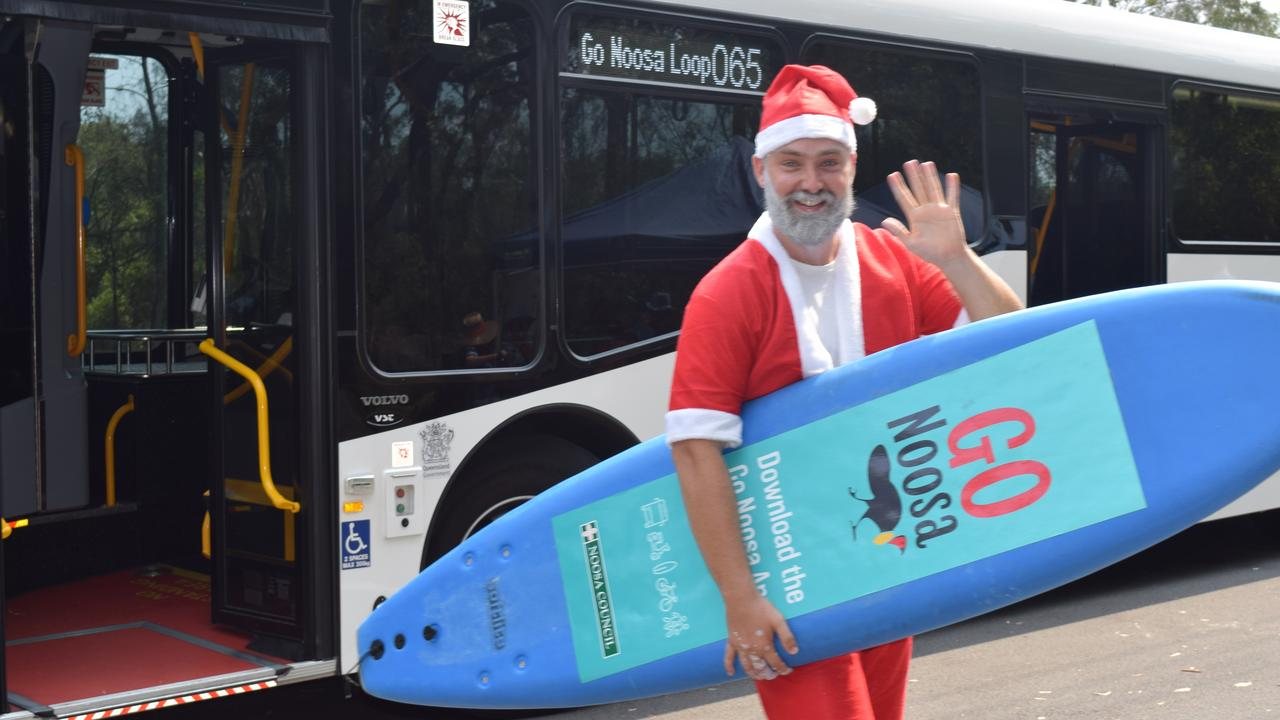 Even Santa is climbing aboard the Go Noosa new service called the loop bus.
