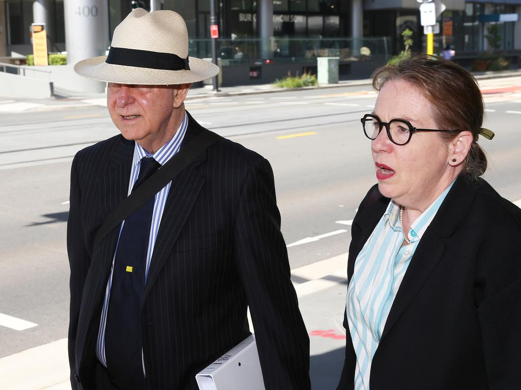 Jarryd Hayne's legal team, Phillip Boulten SC, and solicitor Penny Musgrave. Picture: NCA NewsWire/Peter Lorimer