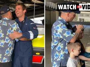 Shark attack victim reunites with rescuers