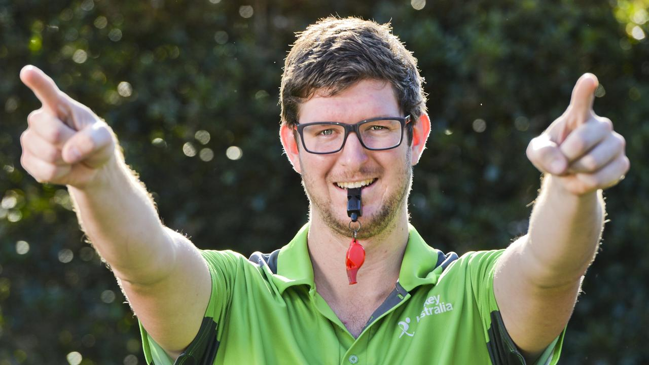 Ipswich hockey umpire Aaron Gotting preparing for national duty. Picture: Cordell Richardson