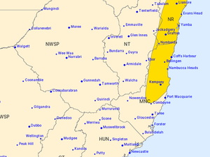 Severe weather warning issued for the region